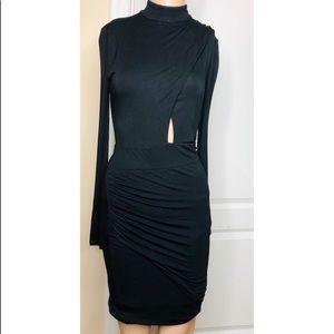 Long sleeve midi black